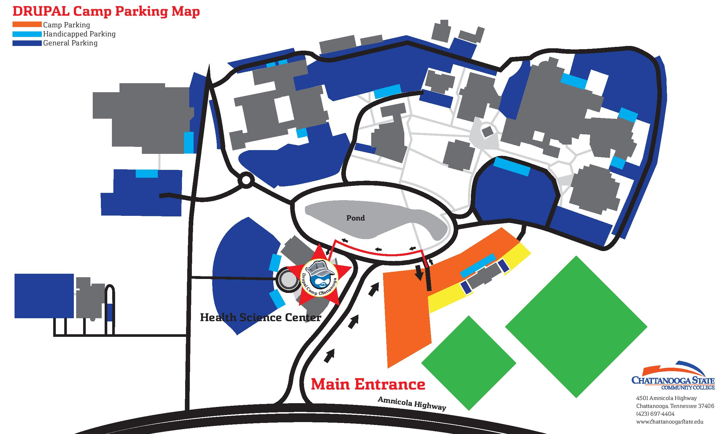 Parking and Location Map | Drupal Camp CHA 2019